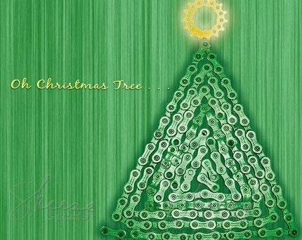 Christmas Tree - 10 Card Bicycle Chain Boxed Set
