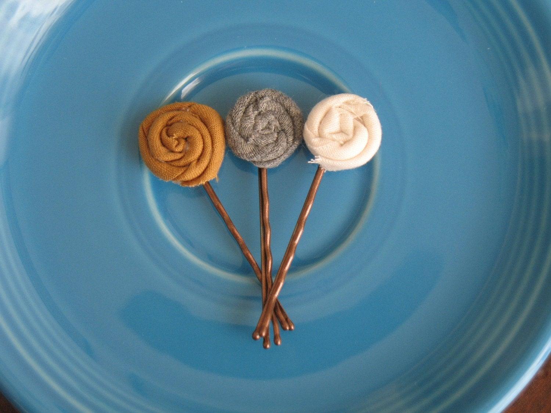 Autumn trio bobby pins hair clips