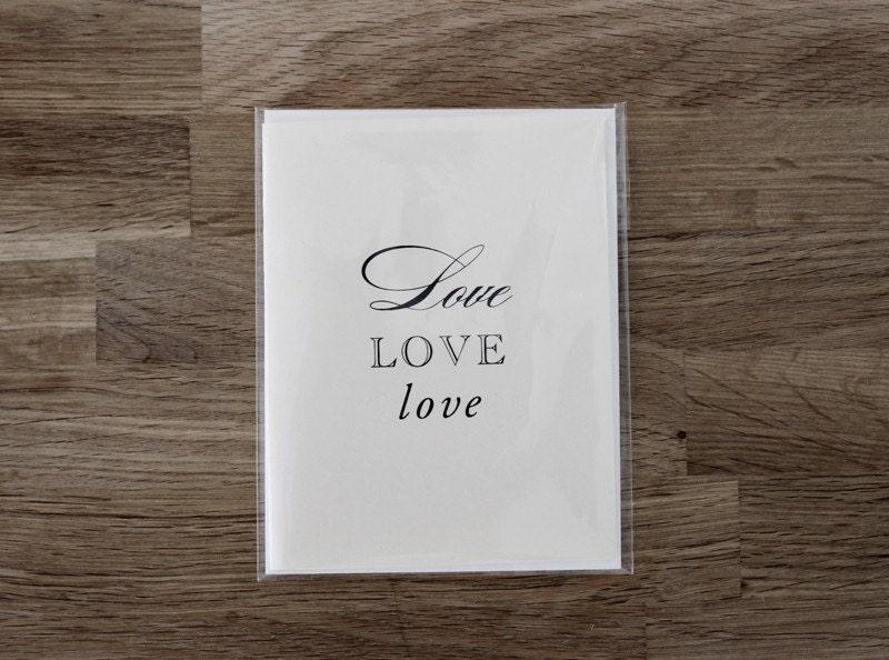 LOVE LOVE LOVE Cards