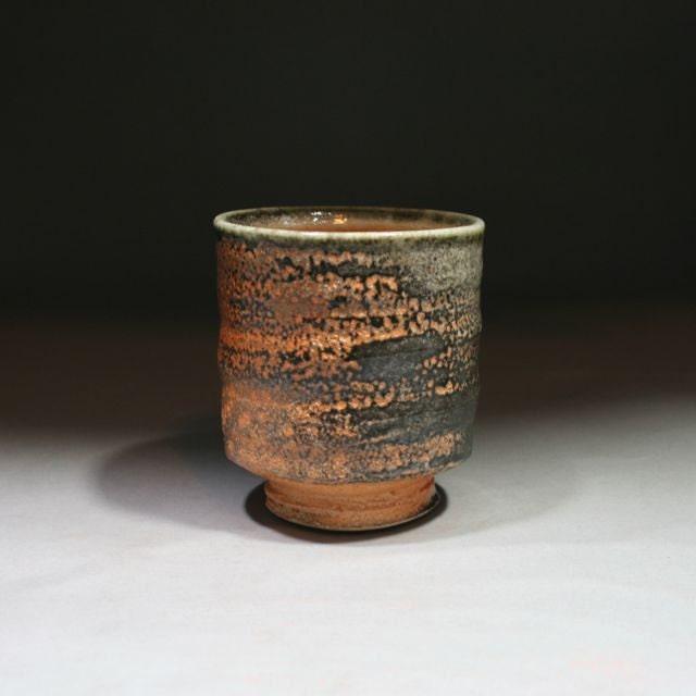 Shino Yunomi, Porcelain Cup, Hand Cut Foot