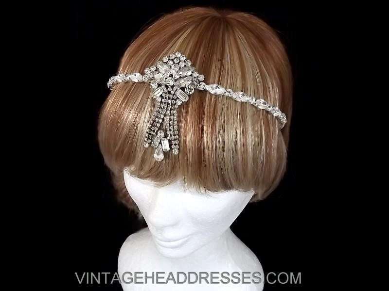 Vintage Art Deco S Flapper Forehead By Vintageheaddresses