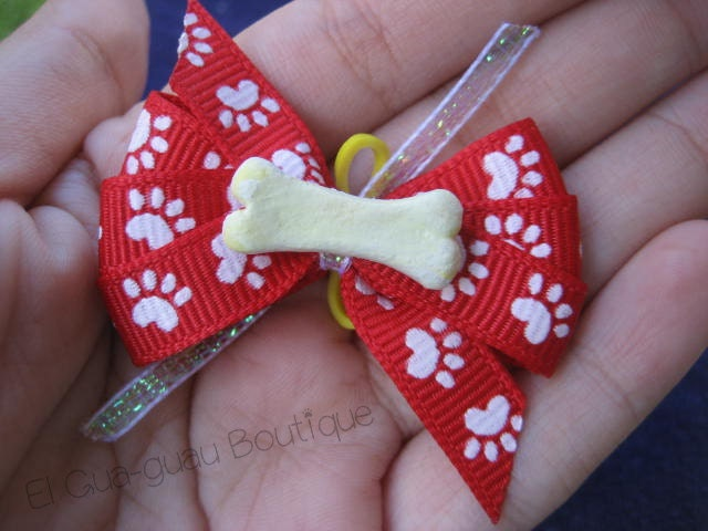 Paws and Bone Dog Bow - ElGuaguauBoutique
