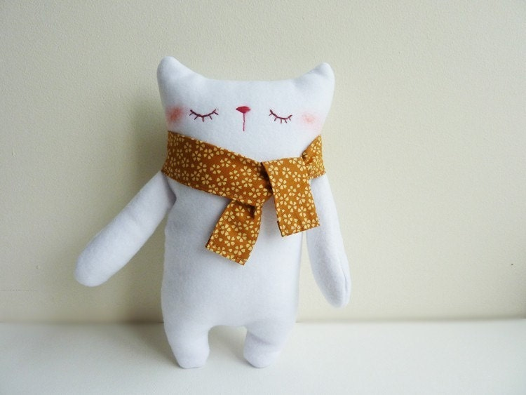 Mr.White with scarf - Etsy Project Embrace