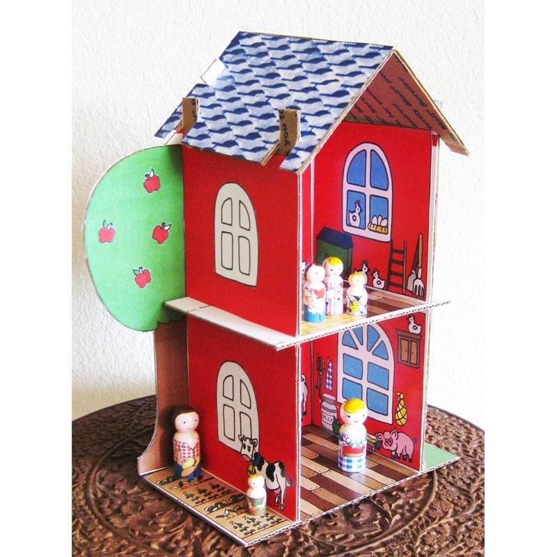 Картинка дом из картона своими руками