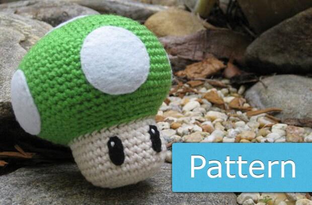 Amigurumi Mushroom Crochet Patterns : Mario Mushroom: PDF Amigurumi Crochet Pattern by GeekChicurumi
