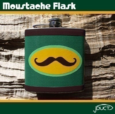 Moustache Flask by jDUCT