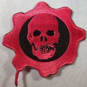 Costume Skull Badge Parche Toppa Aufnäher - Free Shipping! Gears of War Ir