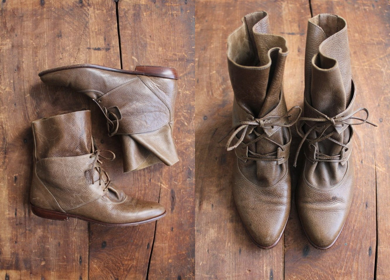 vintage ankle boots / leather boots / size 6 boots - allencompany