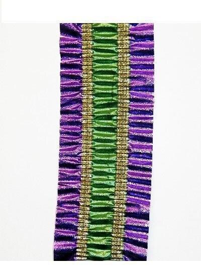 Purple and gold chevron border