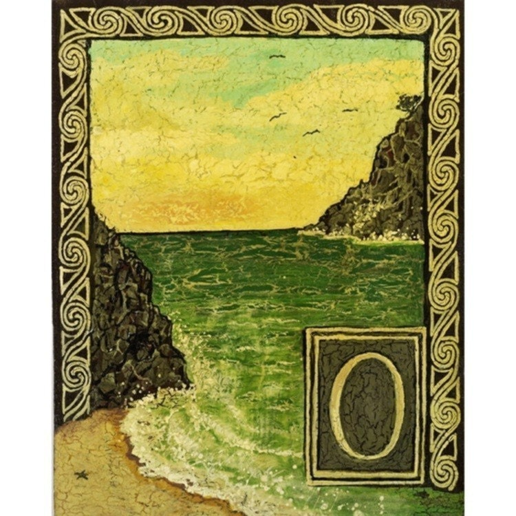 O is for Ocean - Print from the Medieval Alphabet