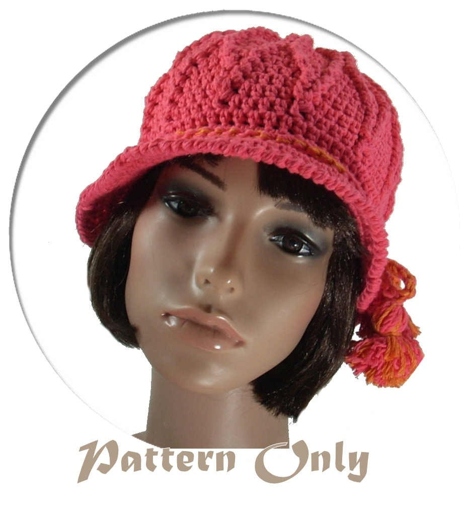 PDF Pattern Crochet Cotton Summer Hat no 48 by stubbornwoman
