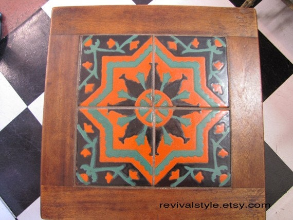 Items Similar To California Spanish Revival Tile Table By