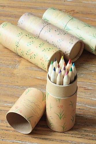 Pencil-Colored Pencils-In Beautiful Kraft paper Box-3 Styles available-Tool-Art Supplies - sugarbsupplies