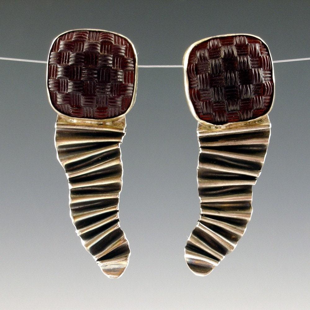 Etsy :: weavers crinkle earrings from etsy.com