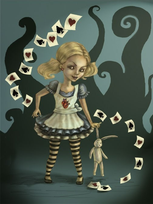 Miss Wonderland Fantasy Art Print