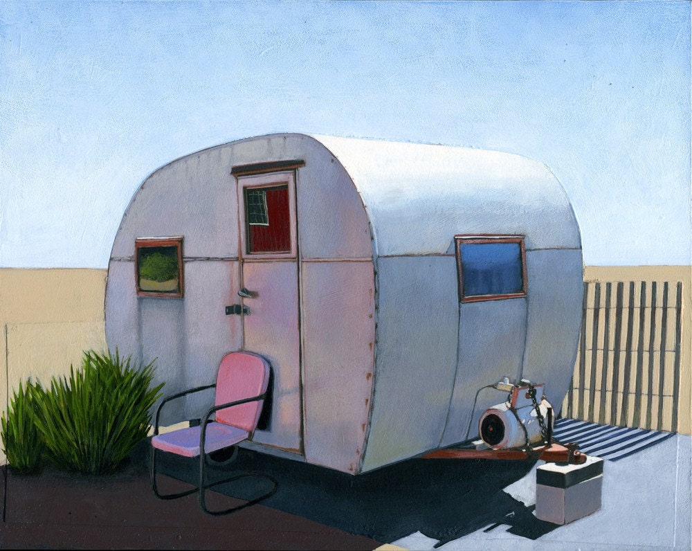 Desert Camper - limited edition archival print 13/100