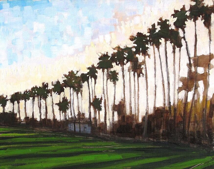 Santa Barbara Painting- Sunset Palms