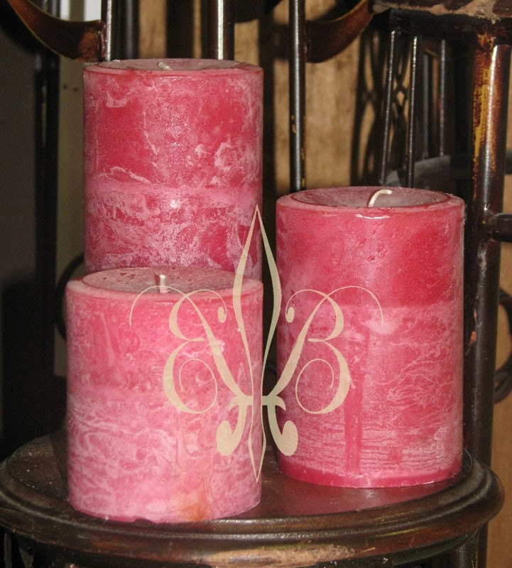 Badan Bulgarian Rose and Sandalwood Pillar Candle 3x3.5