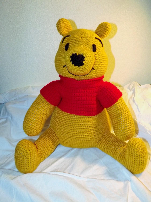 Crochet Amigurumi Eeyore : Items similar to Crocheted amigurumi Winnie the Pooh teddy ...