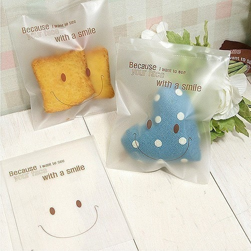 20 Smile Man Translucent OPP Wrapping Bag - (M)110 x 140mm