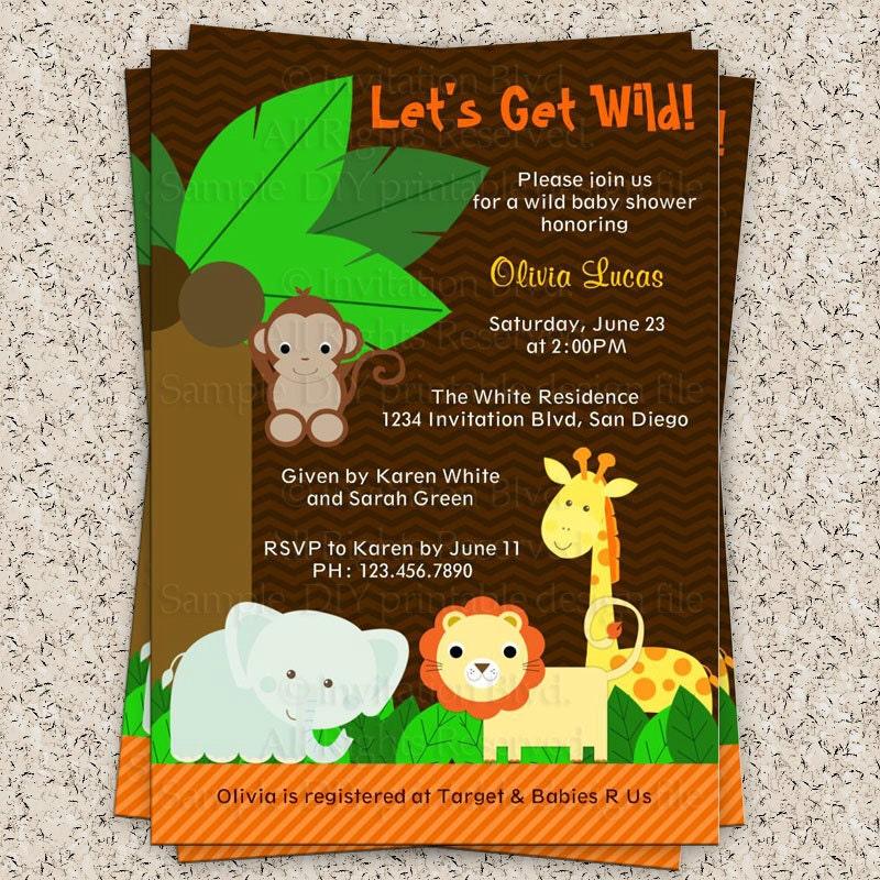 jungle baby shower safari baby shower animal baby shower boy