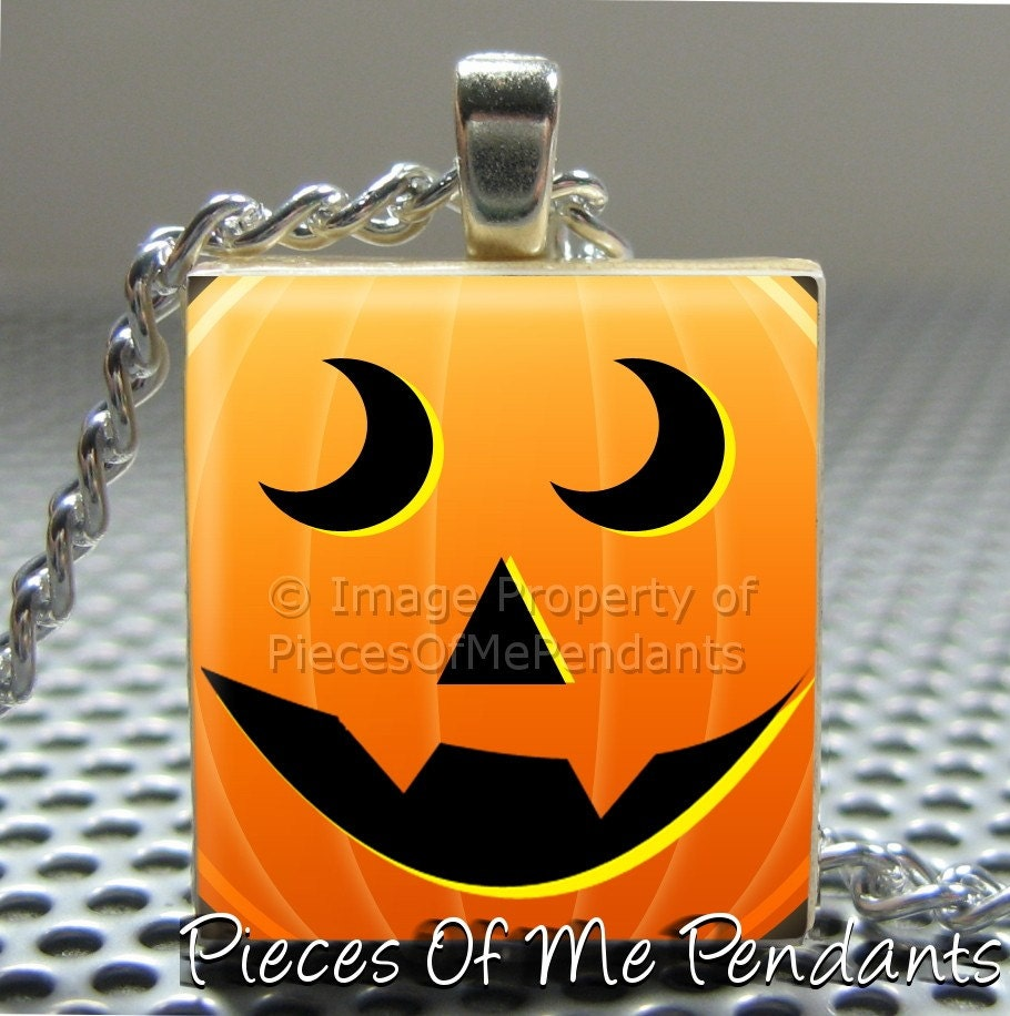 Pieces Of Me Pendants ...... Srabble Tile Pendant ......  PUMPKIN