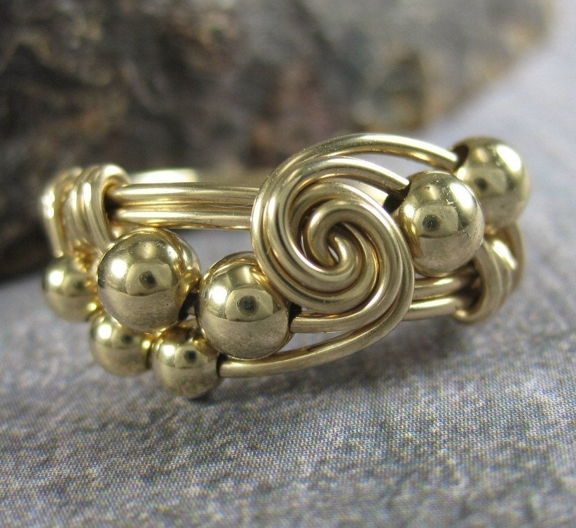Golden Ratio--14K Gold Filled Fibonacci Sequence Wire Wrapped Ring