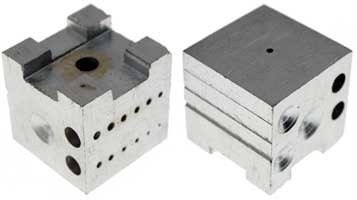 Dapping block, shaping block, bench block - steel - small - great for stamping, bending, pronging, shaping metal