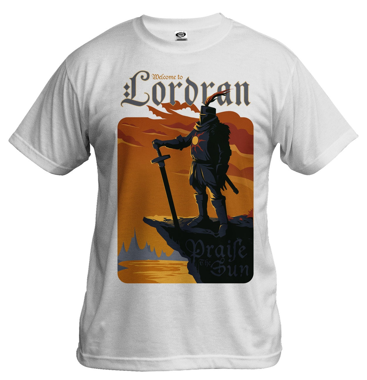 Dark Souls Shirt Praise the Sun Solaire of Astora by Crowsmack