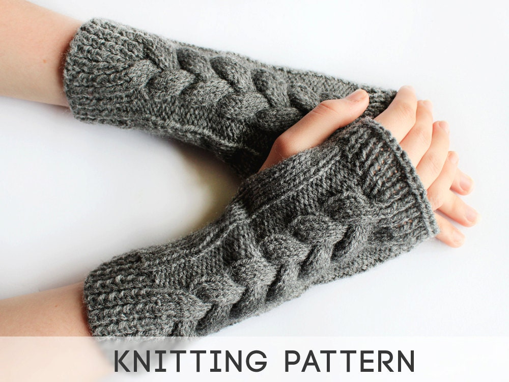 Knitting Pattern Long Fingerless Gloves : Unavailable Listing on Etsy