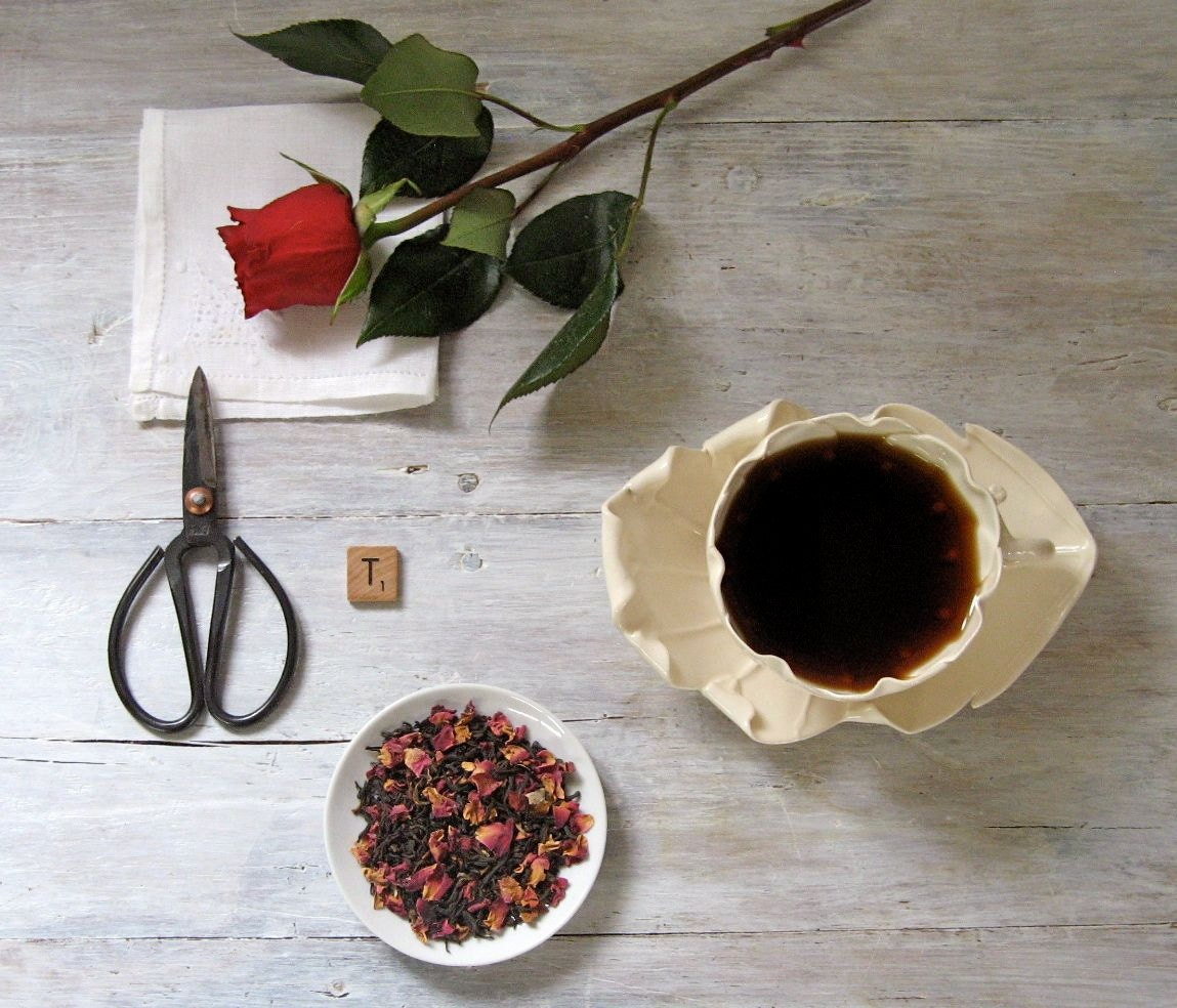 Midnight Rose Black Tea - ArtfulTea Luxury Loose Leaf Blend of Chinese Black Tea & Red Rose Petals, 3 oz. Tin - ArtfulTea