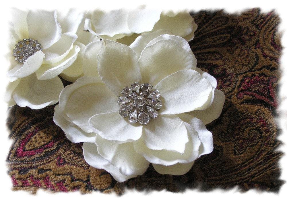 Ivory Magnolia Bridal Flower by DebbyHoffmanBridal