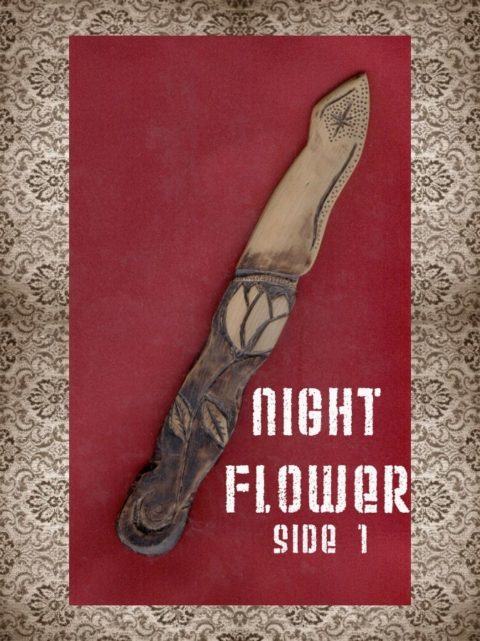 Night Flower Cedar Wood Athame OOAK