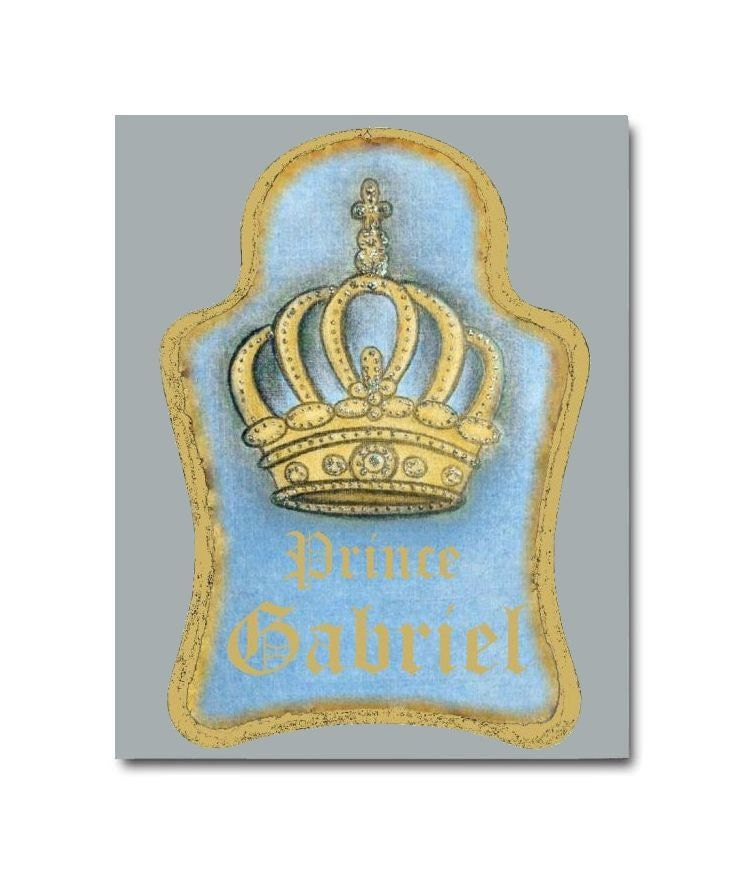 Prince Crown Wall Decoration : Royal nursery prince crown decor art by