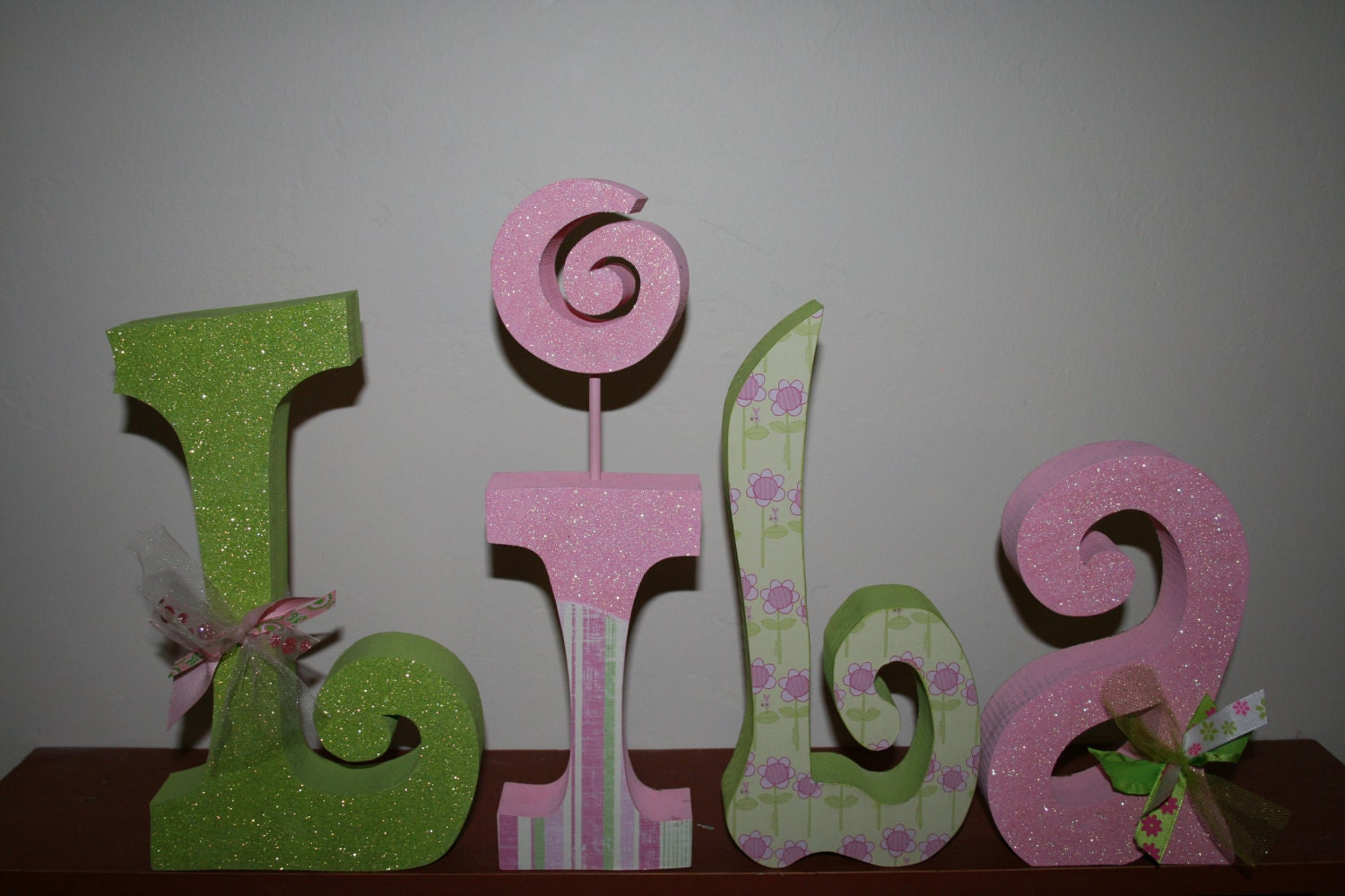 Custom wood letters nursery letters girl nursery letters kids room ...