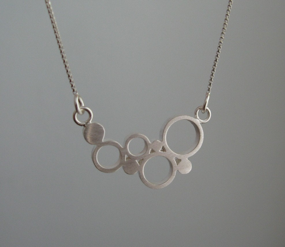 Bubbles - Silver Pendant with Necklace