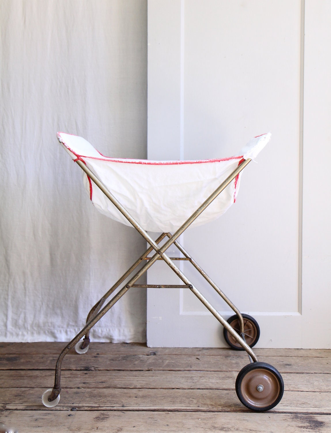 Vintage Rolling Laundry Cart By Ethanollie On Etsy