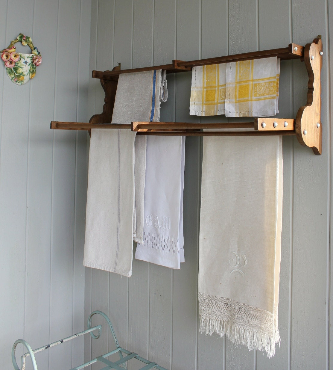 Victorian Wall Mount Drying Rack By Robinseggbleunest On Etsy