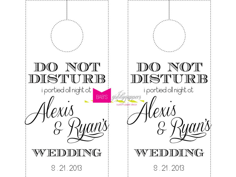 Wedding Door Hanger Template Pictures To Pin On   Pinsdaddy