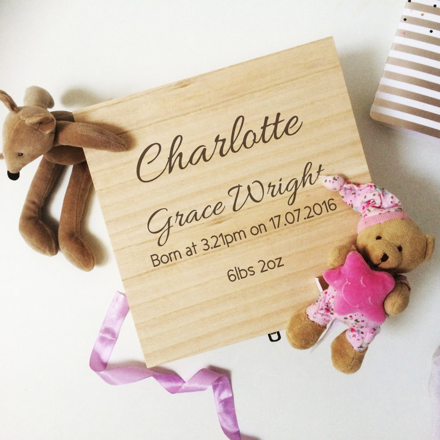 Baby Keepsake Box Baby memory box Box for Baby items personalised keepsake box christening gift baby gift