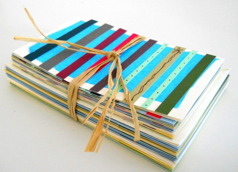 Bright, Colorful, Unique - Handmade Stationery, Set of Ten