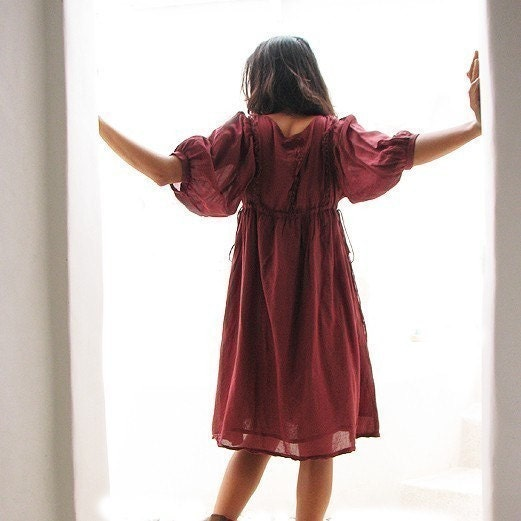 Joy Dress...Maroon red  mixed silk And all colour S,M,L,XL,XXL - cocoricooo