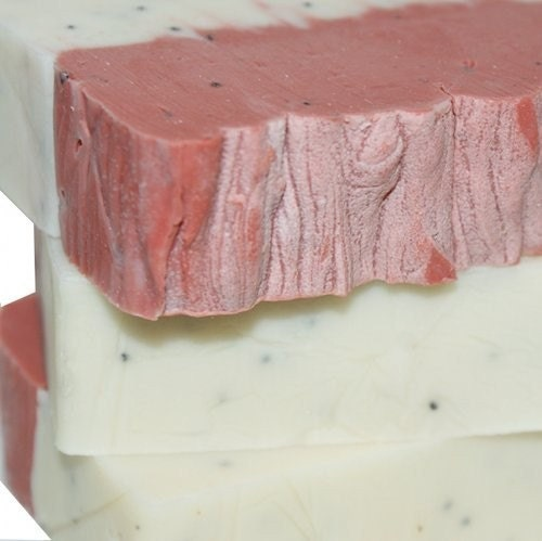 Strawberry Champagne Shea Butter Soap  Deep Pink and by soapdeli from etsy.com