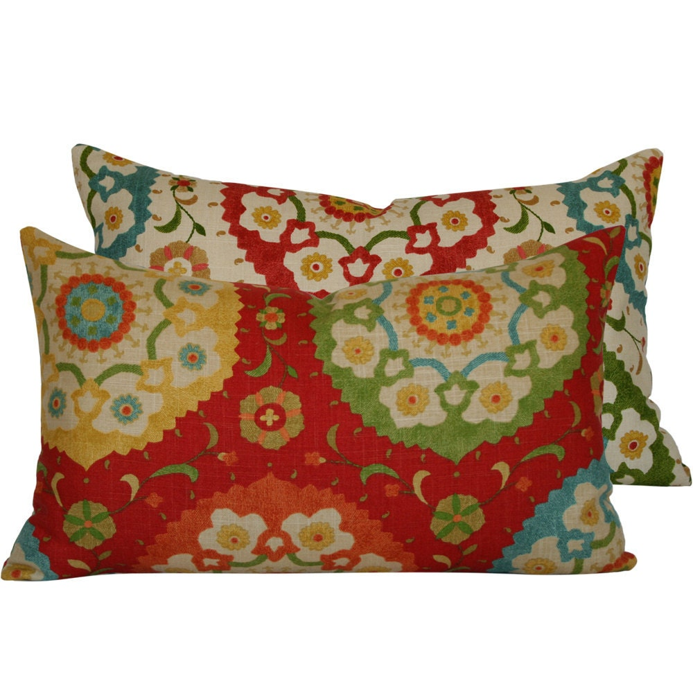 12x20 Lumbar Pillow Cover . Richloom Cornwall Designer . Fiesta Infusion Collection