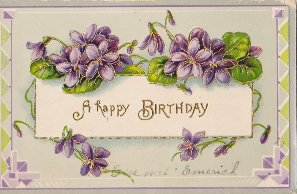 Vintage Birthday Post Card Early 1900s bd038