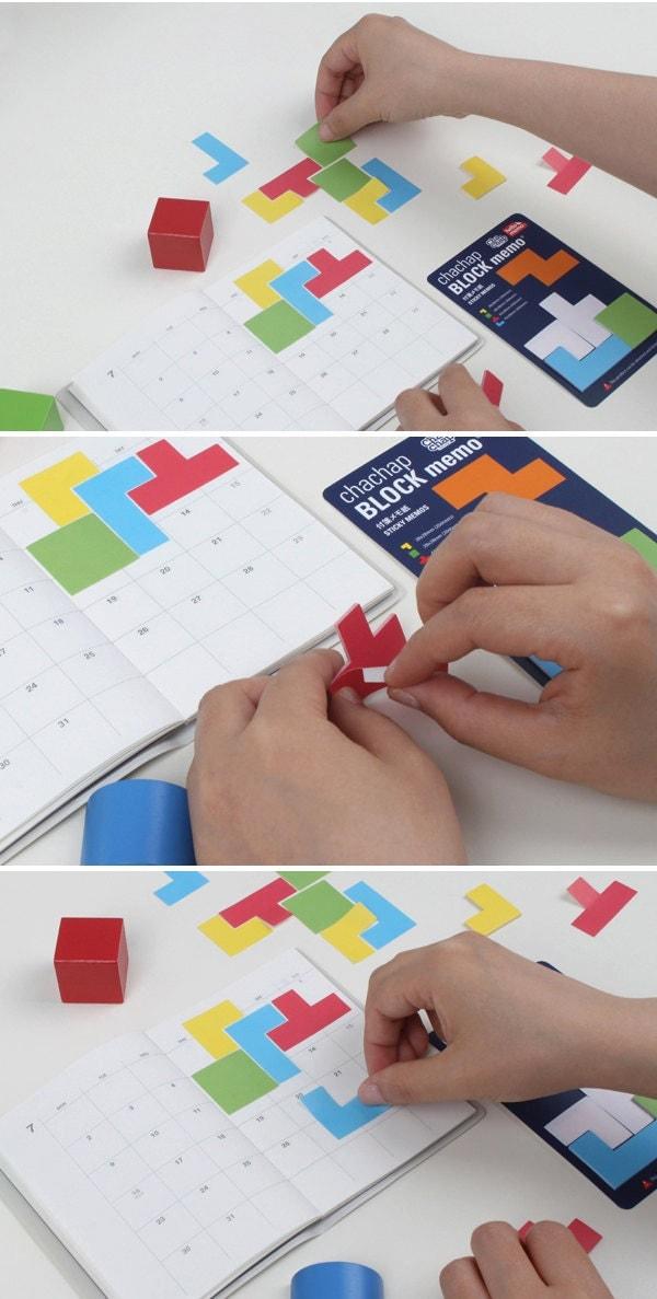 Tetris Style Block Memo Adhesive (80 sheets)
