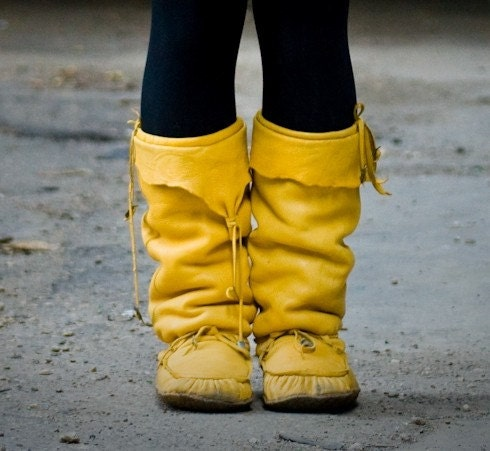 Made to Order Custom Soft Leather Winter Mukluks in a Variety of Color/Style Options