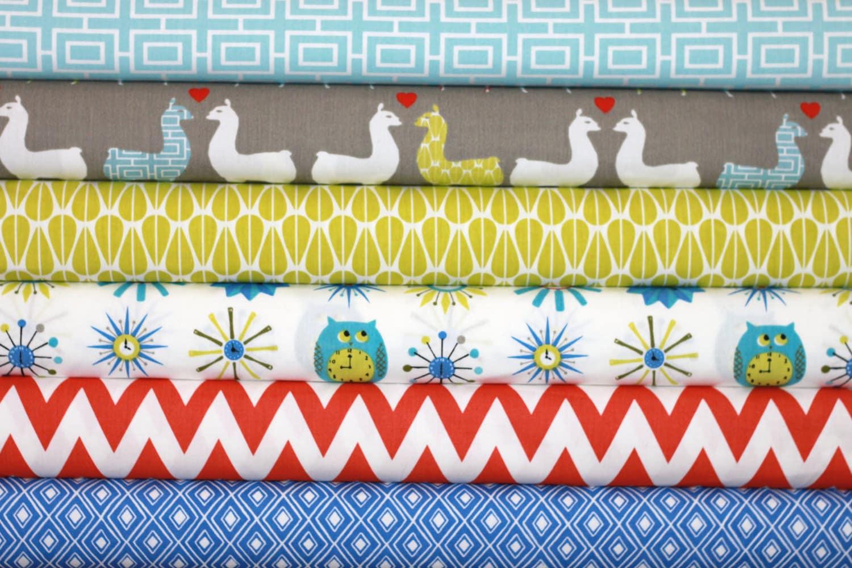 6 Fat Quarter Bundle Organic Cotton Fabric - Monaluna Modern Home