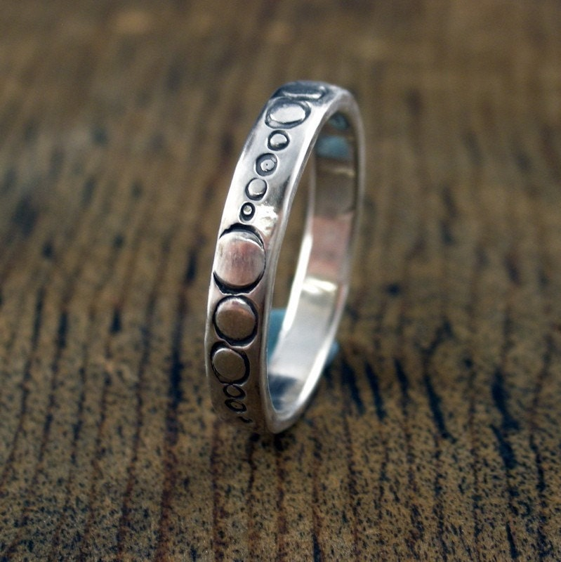 multiple O    ring sterling silver