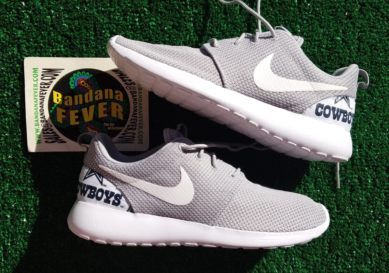 4f027d24805 outlet Nike Dallas Cowboys Roshe Run Men s Wolf by BandanaFeverDesigns